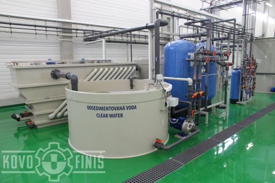 Sedimentation unit and sand filtration unit