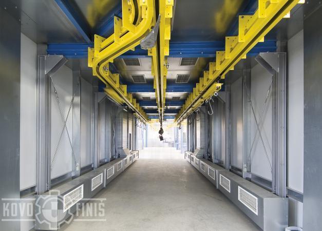 Lakovací linka pro převodové skříně
