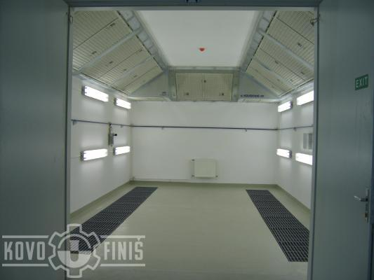 Lakovací kabina pro autoservis se suchým odlučováním